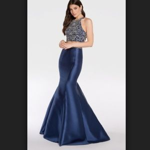 Alyce 1278 two-piece mermaid gown